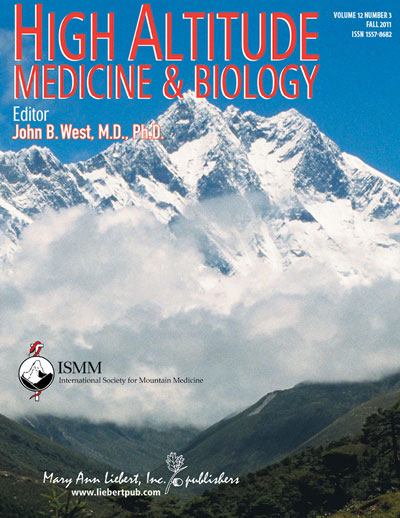 High Altitude Medicine and Biology journal cover